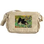 Irises / Pomeranian(bb) Messenger Bag