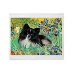 Irises / Pomeranian(bb) Throw Blanket