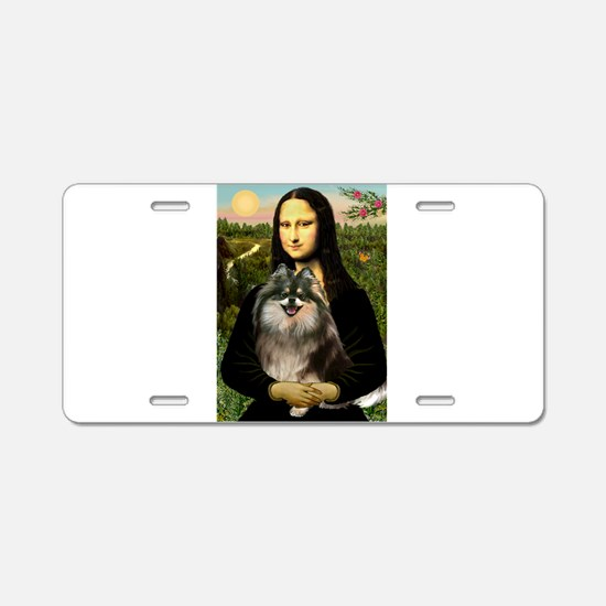 Mona and her Parti Pom Aluminum License Plate
