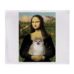 Mona/Pomeranian (#1) Throw Blanket