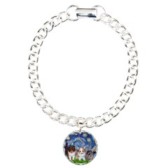 Starry Night /Pomeranian pups Bracelet