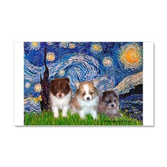 Starry Night /Pomeranian pups Car Magnet 20 x 12
