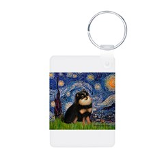 Starry Night / Pomeranian(b&t) Keychains