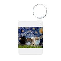 Starry/3 Pomeranians Keychains