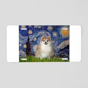 Starry / Pomeranian Aluminum License Plate