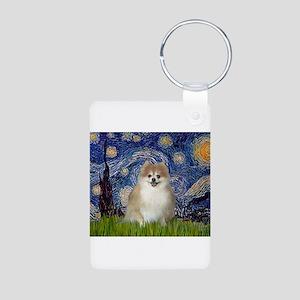 Starry / Pomeranian Aluminum Photo Keychain