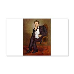 Lincoln/Poodle (W-Min) Car Magnet 20 x 12
