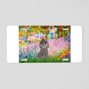 Garden / Poodle (Silver) Aluminum License Plate