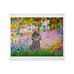 Garden / Poodle (Silver) Throw Blanket