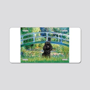 Bridge / Poodle (Black) Aluminum License Plate