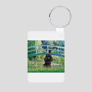 Bridge / Poodle (Black) Aluminum Photo Keychain