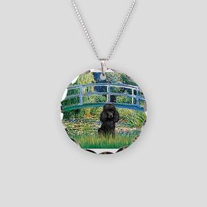 Bridge / Poodle (Black) Necklace Circle Charm