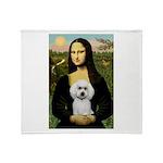 Mona Lisa / Poodle(w) Throw Blanket