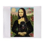 Mona / Poodle (bl) Throw Blanket
