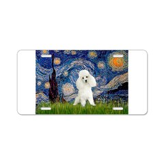 Starry / Poodle (White) Aluminum License Plate