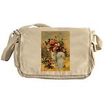Vase / Poodle (White) Messenger Bag