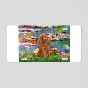 Lilies / Poodle (Apricot) Aluminum License Plate
