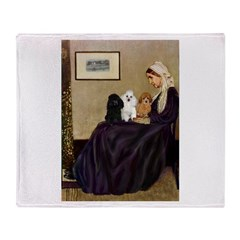 Whistler's / 3 Poodles Throw Blanket