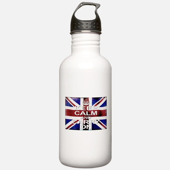 Keep Calm Union Jack Water Bottle