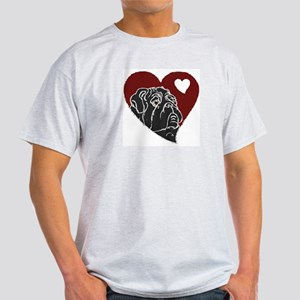 Love Pug Ash Grey T-Shirt