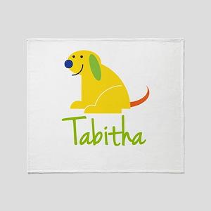 Tabitha Loves Puppies Throw Blanket