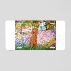 Garden/Std Poodle (apricot) Aluminum License Plate