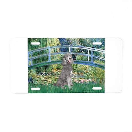 Bridge/Std Poodle silver) Aluminum License Plate