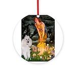 Fairies / Std Poodle(w) Ornament (Round)