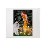 Fairies / Std Poodle(w) Throw Blanket