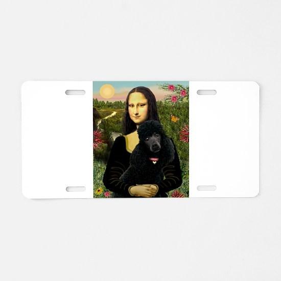 Mona / Std Poodle (bl) Aluminum License Plate