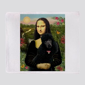 Mona / Std Poodle (bl) Throw Blanket