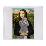 Mona Lia/Std Poodle (silver) Throw Blanket