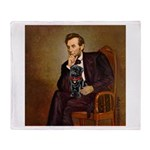Lincoln-Black Pug Throw Blanket