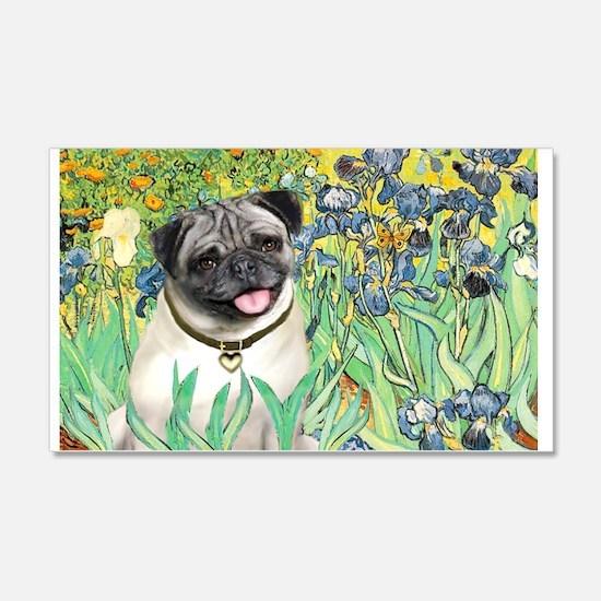 Irises / Pug Wall Decal