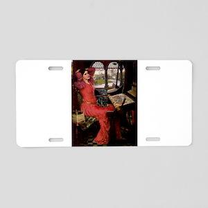 Lady / Black Pug Aluminum License Plate