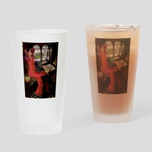 Lady / Black Pug Drinking Glass