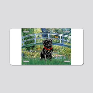 Bridge / Black Pug Aluminum License Plate