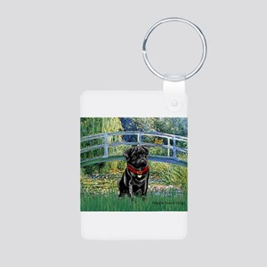 Bridge / Black Pug Aluminum Photo Keychain