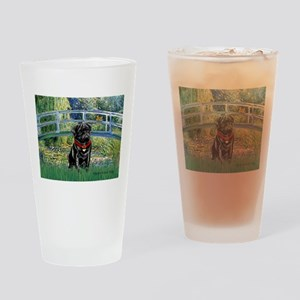 Bridge / Black Pug Drinking Glass
