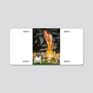 Fairies & Pug Aluminum License Plate