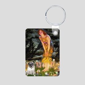 Fairies & Pug Aluminum Photo Keychain