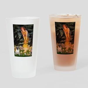 Fairies & Pug Drinking Glass