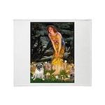 Fairies & Pug Throw Blanket