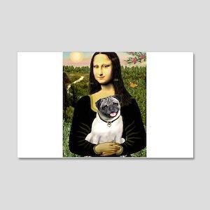 Mona's Fawn Pug 20x12 Wall Decal