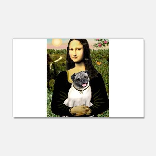 Mona's Fawn Pug Wall Decal