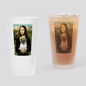 Mona's Fawn Pug Drinking Glass