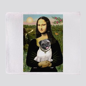 Mona's Fawn Pug Throw Blanket