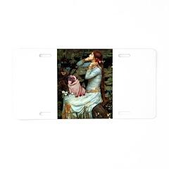 Ophelia / Fawn Pug Aluminum License Plate