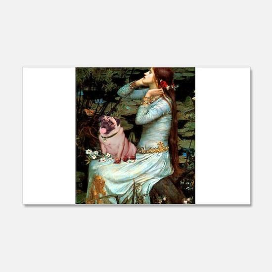 Ophelia / Fawn Pug Wall Decal