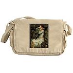 Ophelia (2) & Black Pug Messenger Bag